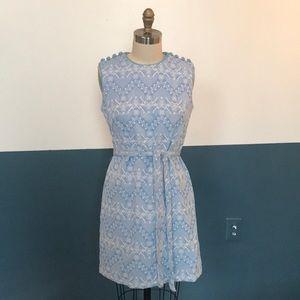 60s atomic snowflake dress